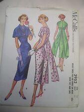 VINTAGE 50's McCALLs COCKTAIL EVENING DRESS SHEER TOP & CAPE PATTERN 3952