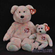 TY Beanie Buddy & Baby Bear Celebrate Large Small Mom Baby 15th Anniversary