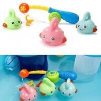 Kids Bath Toys Water Play Fishing Game Cartoon Floating Swimming Pool Fish Gift