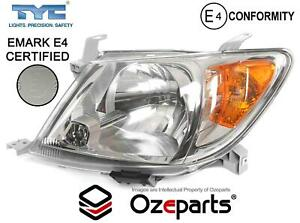 LH LHS Left Hand Head Light Lamp E Mark For Toyota Hilux Ute 2005~2008 2WD 4WD