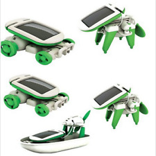 6 in 1 DIY Educational Learning Power Solar Robot Kit Childs Kids Toys Hobbies