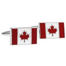 1 pair Canada flag cufflinks,Canadian flag cuff links,CANADA patriotic cufflinks