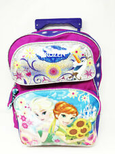 "Frozen Summer Garden 16"" Large Roller Backpack Trolley. Authentic Brand New."
