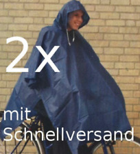 8cd9c3deb5e959 2x Regencape Regenponcho Regenjacke Regenschutz Regen Schutz Fahrrad blau  unisex