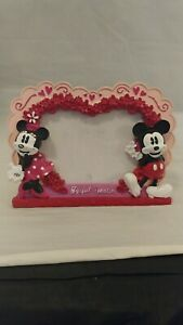 "Mickey and Minnie photo frame. 'The perfect match"". Valentines theme. Good Cond"
