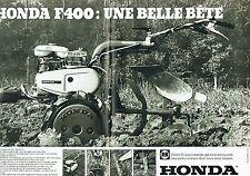 Publicité Advertising 037  1979   Honda (2p) la F 400 F2 motoculteur