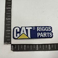 Advertising Patch RIGGS PARTS CAT CATERPILLAR EQUIPMENT C01W