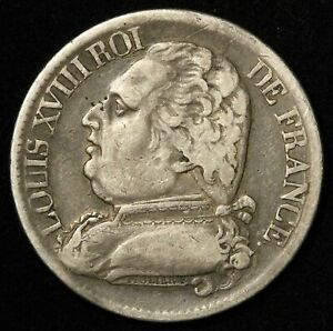 1814 France Silver 5 Francs Toulouse Mint - Free Shipping USA