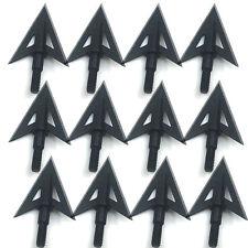 6/12/20x Metal Sharp Broadheads 2 Fixed Blade 100gr Hunting Archery Arrow Heads