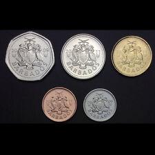 Barbados Set 5 Coins, 1, 5, 10, 25 Cents, 1 Dollar,  2009-2011, UNC