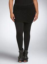 TORRID PLUS SIZE 6 6X 30 BLACK LACE LEGGINGS STRETCH PANTS BOTTOMS 5X SKIRT NWTS