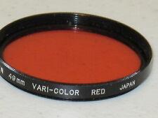 49mm - Tiffen Color Polarizer Red, Vari-Color Red Filter  NEW   #49m8n2