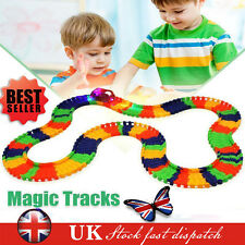 MAGIC TRACKS Glow in the Dark LED Bend Flex AS SEEN ON TV LIGHT UP RACE CAR