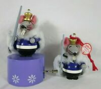 Steinbach Mouse King Ornament And Music Box Nutcracker Suite March Lot Of 2