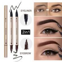 Double Head Liquid Eye Liner Pen Pencil Black Waterproof Eyeliner Makeup Beauty.