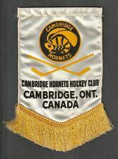Cambridge Hornets hockey team silk pennant