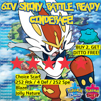 Pokemon Sword Shield SHINY 6IV CINDERACE | BATTLE READY | + DITTO OFFER