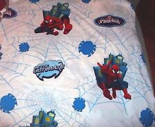 Marvel Ultimate Spiderman Twin Size Flat Bed Sheet Spider Man Fabric Polyester