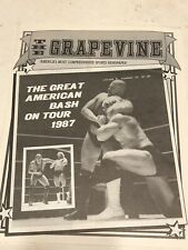 The Grapevine NWA wrestling program Bash 87 Wargames Orange Bowl, Miami FL