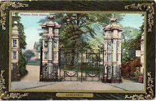 P.C Weston Park Gates Sheffield South Yorkshire P U 1910 Publisher BR