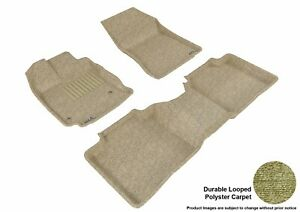 For 2013-2015 Toyota Venza Tan Carpet Front and Rear All Weather Floor Mat Set