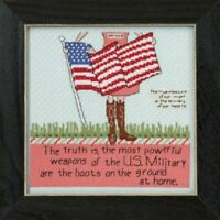 Curly Girl - Mill Hill - Brave Hearts - Cross Stitch Kit - CG30-5102