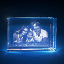 3D Laser Crystal Glass Personalized Etched Engrave Stand Anniversary Landscape S