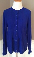 Crescent Exclusively For Stitch Fix L Royal Blue Long Sleeve Button Down Blouse
