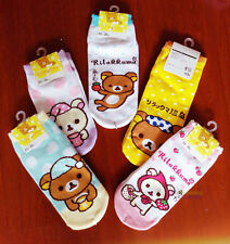Free Shipping For Rilakkuma San-X Bear 5 pairs of Socks Girls Women Floor Socks