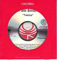 PATTI SMITH Twelve US 12-trk watermarked promo test CD