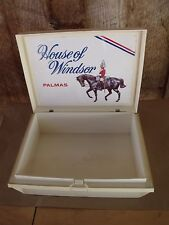 Vintage Mid Century Plastic Cigar Box HOUSE OF WINDSOR Palmas Permit #TP33 Penna