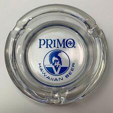 Vintage Primo Hawaiian Beer Glass Ashtray Clear New Breweriana Hawaii
