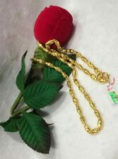GoldNMore: 24K Gold Necklace 20 inches chain TTSPTG