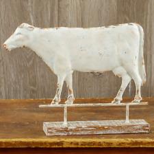 Cow Weathervane On Wood Base