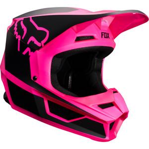 Fox Racing Adult Mens V1 Przm Helmet Black Pink ATV Moto Enduro Off Road Riding