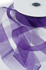 NEW PURPLE Premium Organza Ribbon 25mm x 50m, purple