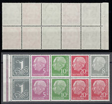 Bund H-Blatt 8 Y II RLV III ** H-Blatt aus MH 4 Y II Heuss und Ziffer 1960