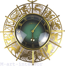 beautiful Zodiac Brass Wall Clock Atlanta by JUNGHANS mid-century modern 1950´s