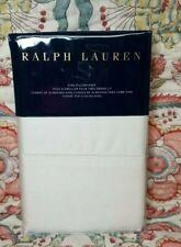 NWT 2 Ralph Lauren  624 Solid Sateen King Pillowcases Hollywood Cream