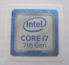 INTEL Core I7 Processor, adesivo 7th Gen + istruzioni di installazione originali