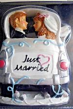 New Wilton Cake Topper Just Married Couple Car Window Bride Groom Wedding