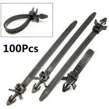 New 100Pcs Nylon Car Fastener Mount Tie Clip Releasable Tie Wrap Cable Zip Strap