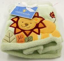 Tiddliwinks Safari Jungle animals Baby Embroided Blanket Plush **New With Tags**