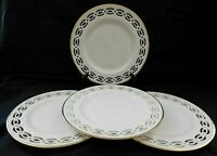 Luxurious Lenox USA Millennium Trapunto Pattern 4 Salad Plates Ivory Unused w1s2