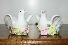 Set of 2 Fitz and Floyd Dove Figurines / Votive Candle Holders