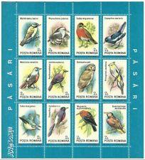 Puerto Rico 1991 Romania Birds Set of 2 Sheets, show Puertorican Todus Mexicanus