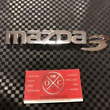 10-13 Mazda 3 OEM Rear Emblems Badges 11 12 Genuine USDM Rare BL Hatchback Sedan