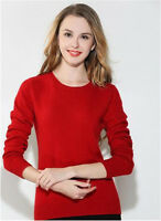 New Spring/Autumn Women Pullovers Cashmere Sweater Crewneck Slim Knitted Sweater