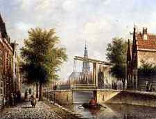 Spohler Johannes Franciscus Capricio Sunlit Townviews In Amsterdam 2 A4 Print