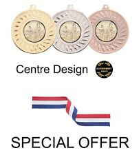 SPECIAL OFFER 10 x Achievement Award 50mm Metal Medals & Ribbons